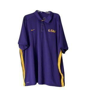Nike XXXL 3XL Purple Yellow LSU tigers Dri Fit